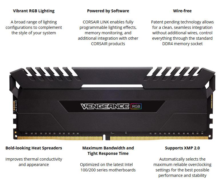 CORSAIR Vengeance RGB DRAM 16GB (2 x 8GB) 288-Pin DDR4 3200 (PC4 25600)  Desktop Memory Model CMR16GX4M2C3200C16 - Newegg com