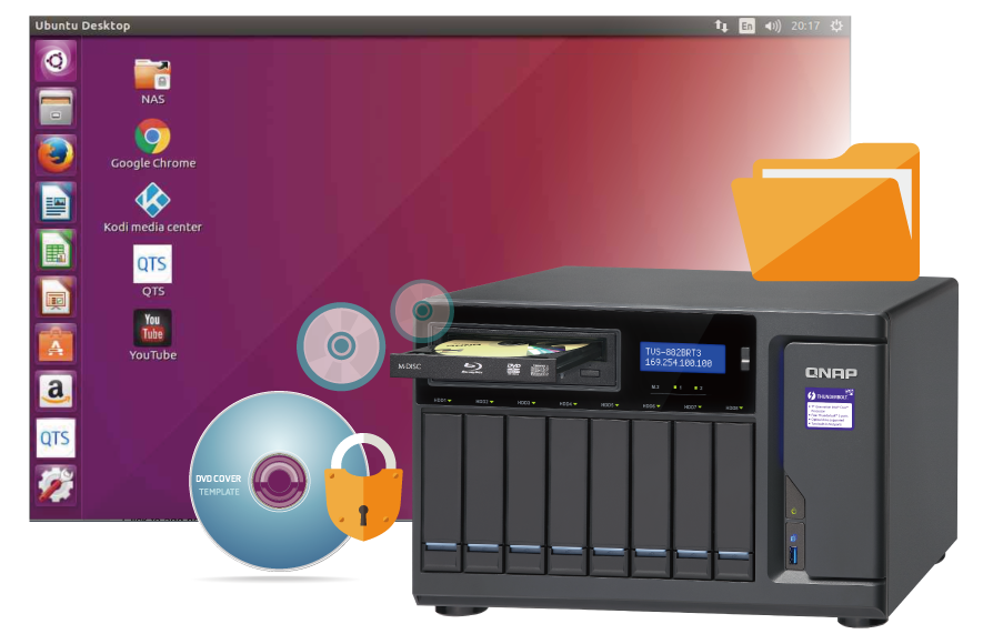 QNAP TVS-882BRT3-i5-16G 8 Bay NAS Desktop