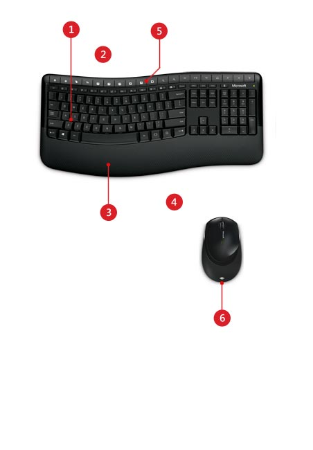 74eddbec9eb Product | Microsoft Wireless Comfort Desktop 5050 - keyboard and ...