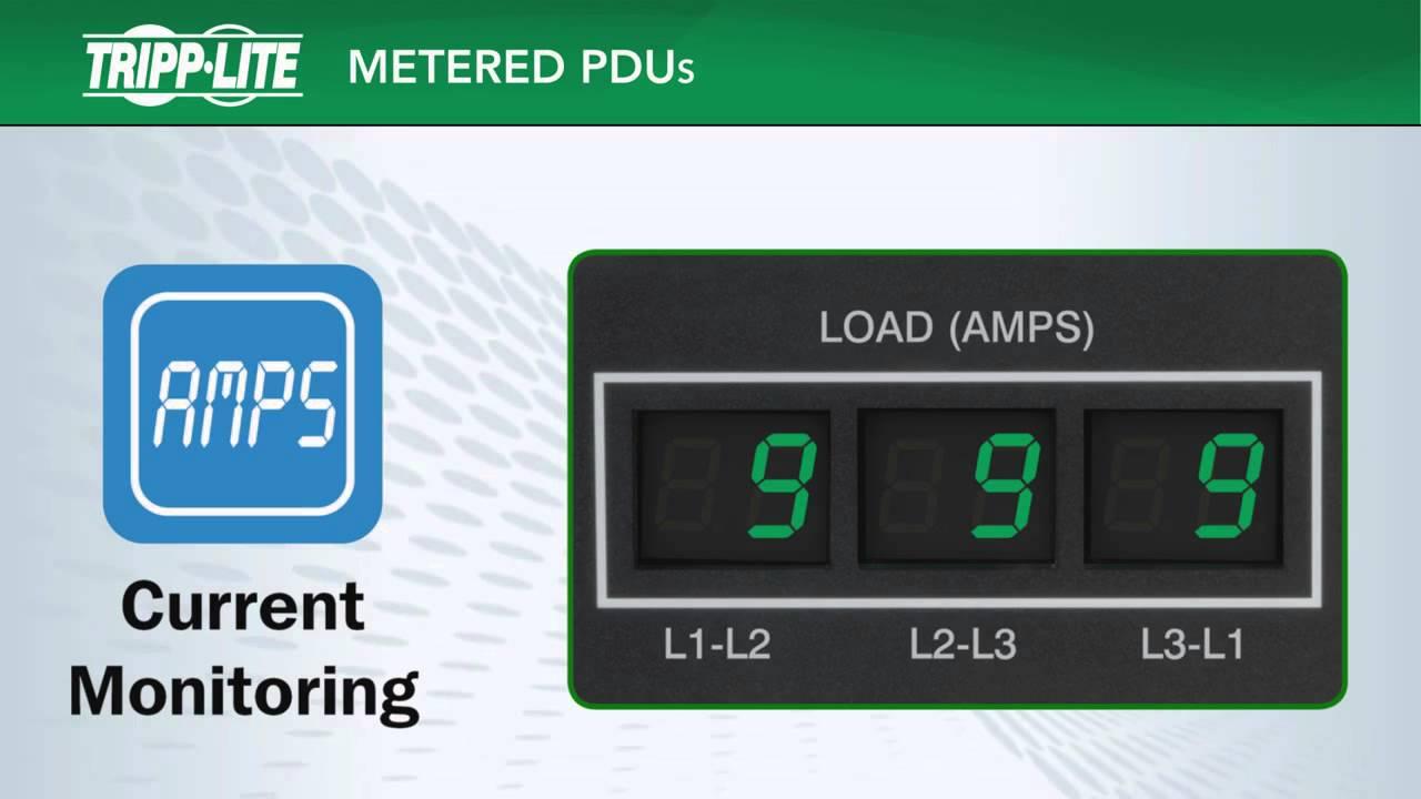 Tripp Lite PDU Monitored 1.4kW 120V 16 5-15R 15A LX Platform Interface 5-15P Vertical 0URM rack-Mount TAA PDUMNV15LX