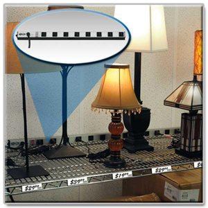 All Metal 8 Outlet Power Strip Guaranteed to Last for Life