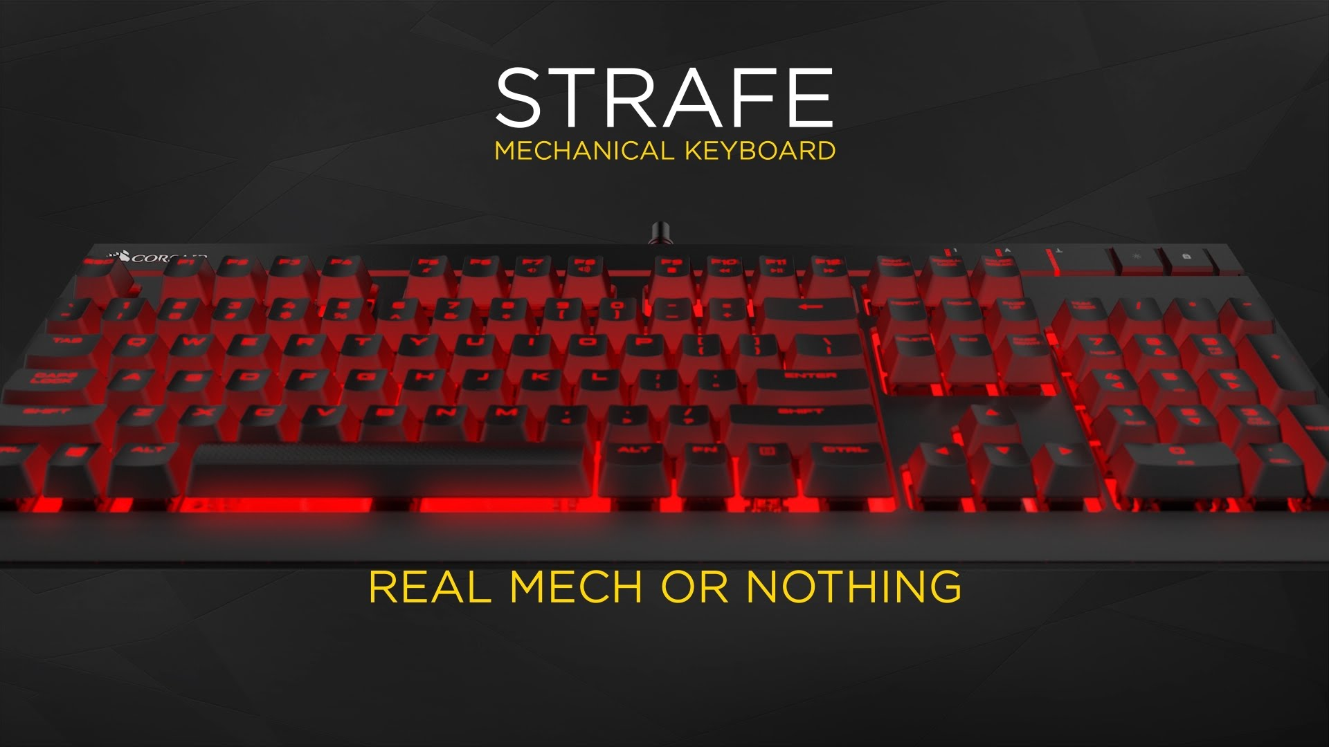 615e790d845 Corsair Gaming STRAFE Mechanical Gaming Keyboard - Cherry MX Red ...