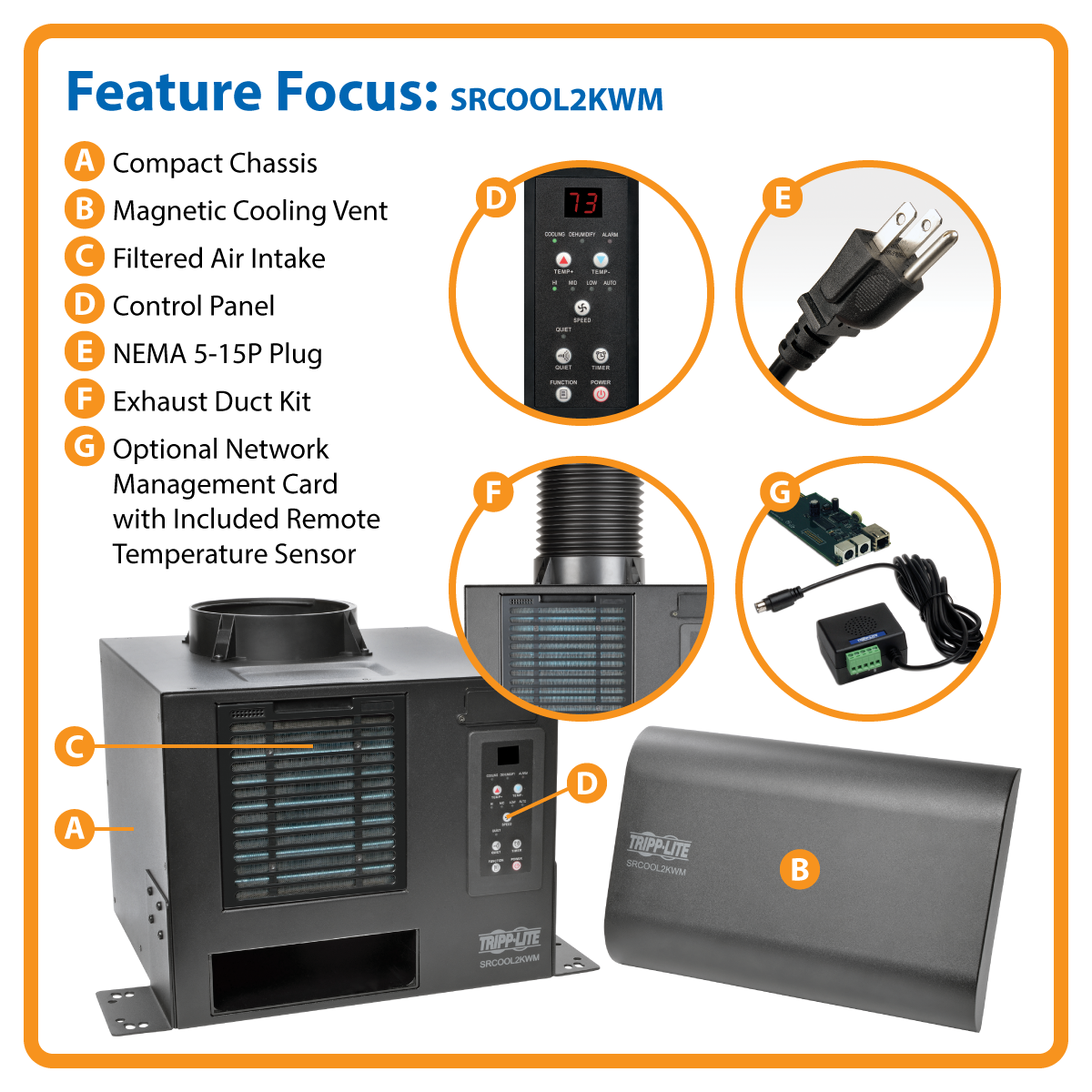 Product Tripp Lite Cooling Unit Air Conditioner Wallmount Rack Lcd Projector Multifunction Controller Circuit Diagram Control Media