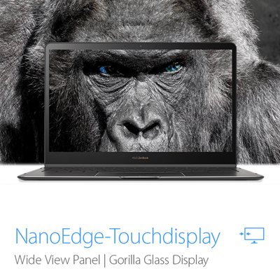 NanoEdge-Touchdisplay mit Gorilla Glas 5
