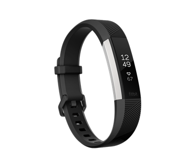 Fitbit Alta HR - Activity tracker with band - black - Small - monochrome - 0.81 oz