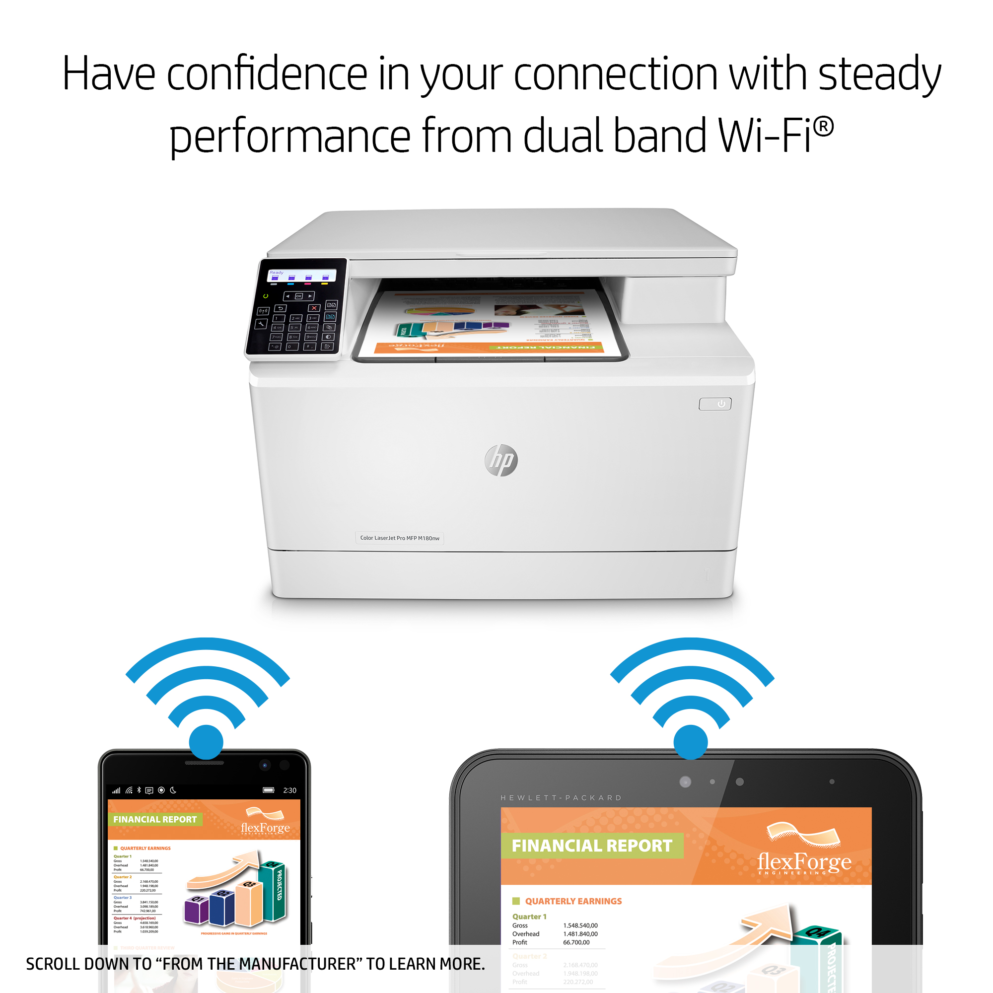 HP LaserJet Pro M180nw All in One Wireless Color Laser Printer T6B74A by  Office Depot & OfficeMax