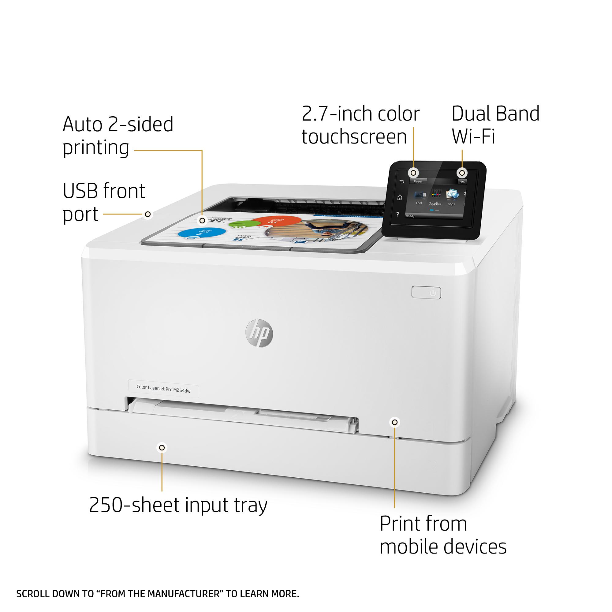 HP Color LaserJet Pro M254dw - printer - color - laser