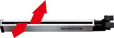 Verstärkter Steel PCIe Slot, Schützt gegen EMI