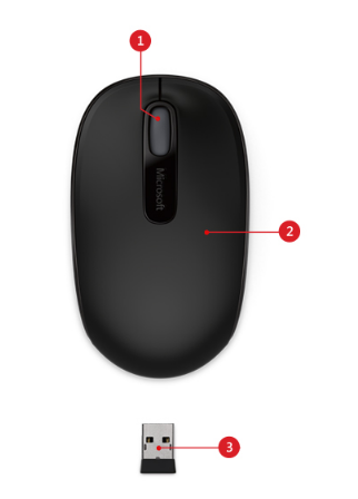fee04856fdc Designed for Comfort and Portability. The Wireless Mobile Mouse 1850 ...