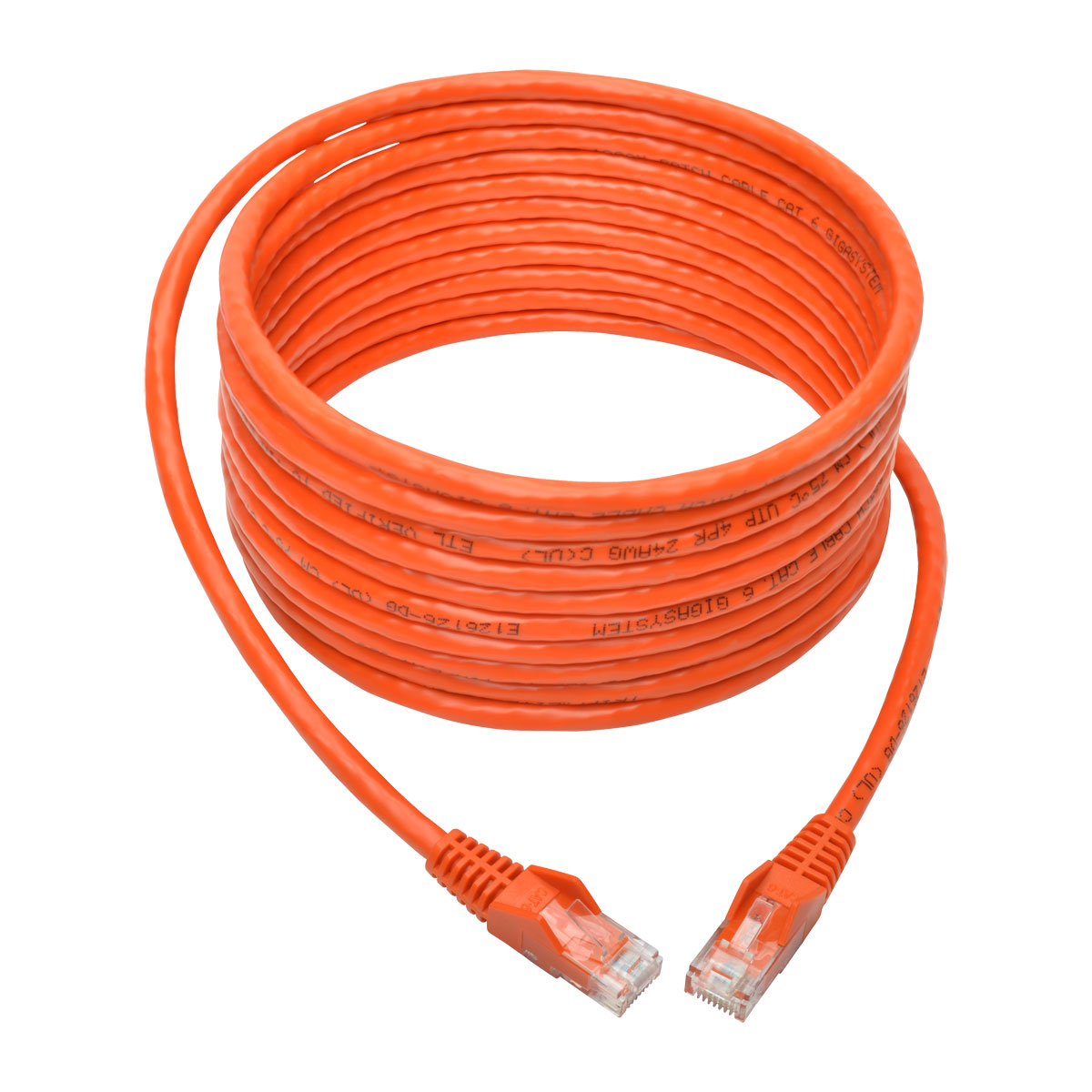 Tripp Lite 15ft Cat6 Snagless Molded Patch Cable Utp Orange Rj45 M Pairs 24awg Cat5e Cordnetwork Wiring Diagramnetwork 15 N201 015 Or Networking Cables