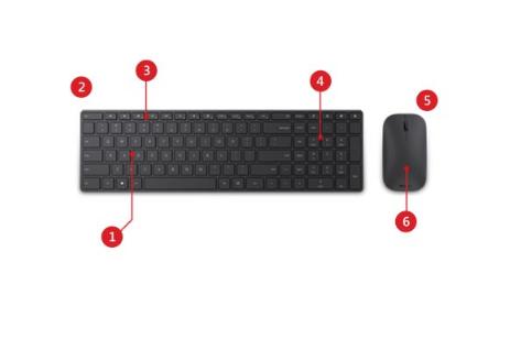 Microsoft Designer Bluetooth Desktop Keyboard and mouse set
