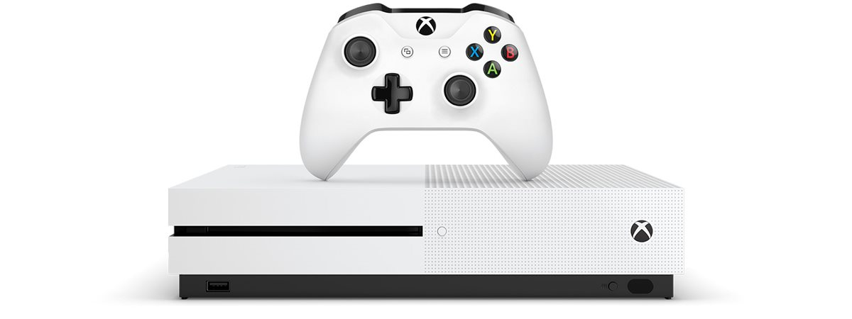 Xbox One S: The ultimate games and 4K entertainment system.