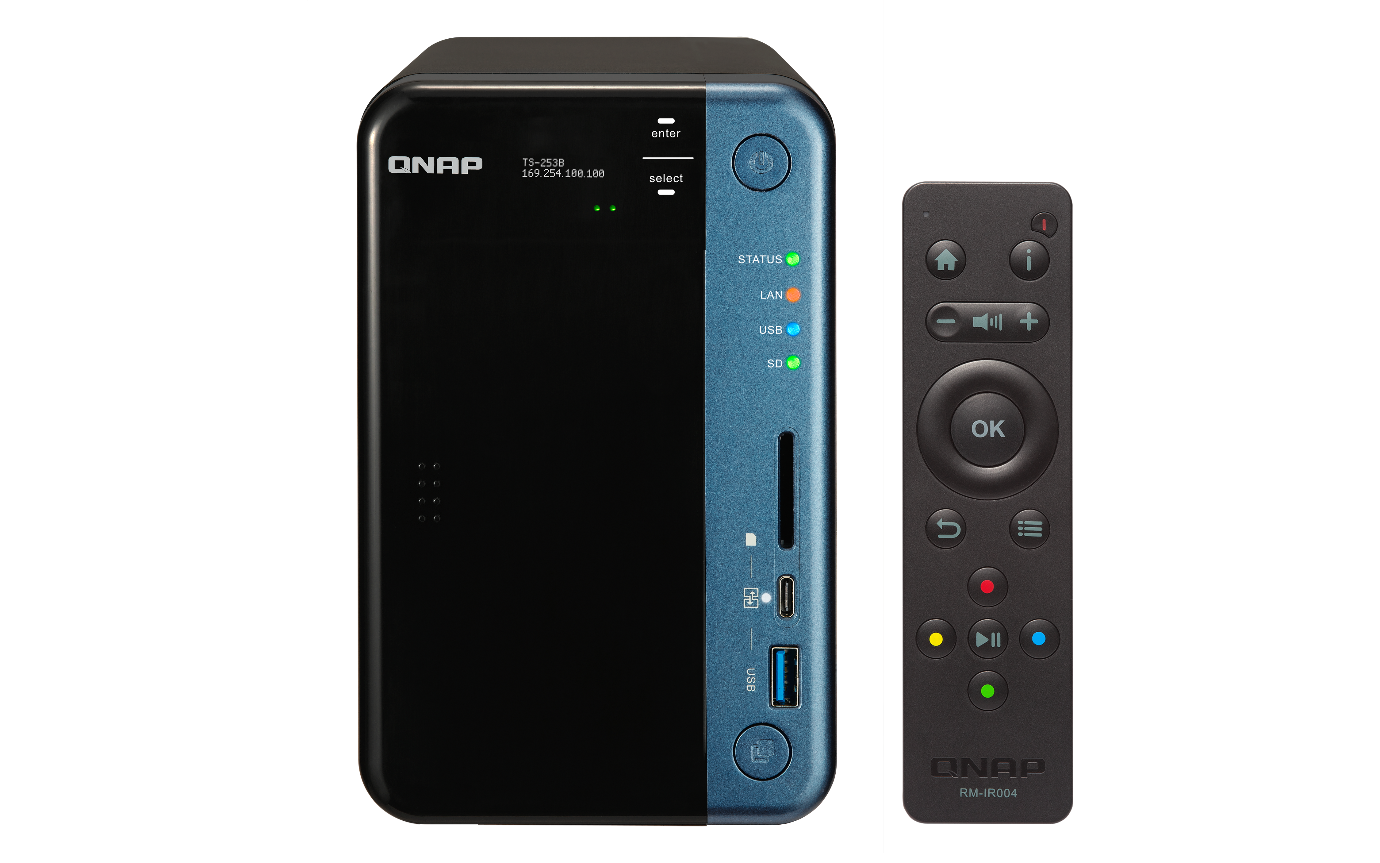 QNAP TS-253B 2 Bay - 4GB Diskless Desktop NAS