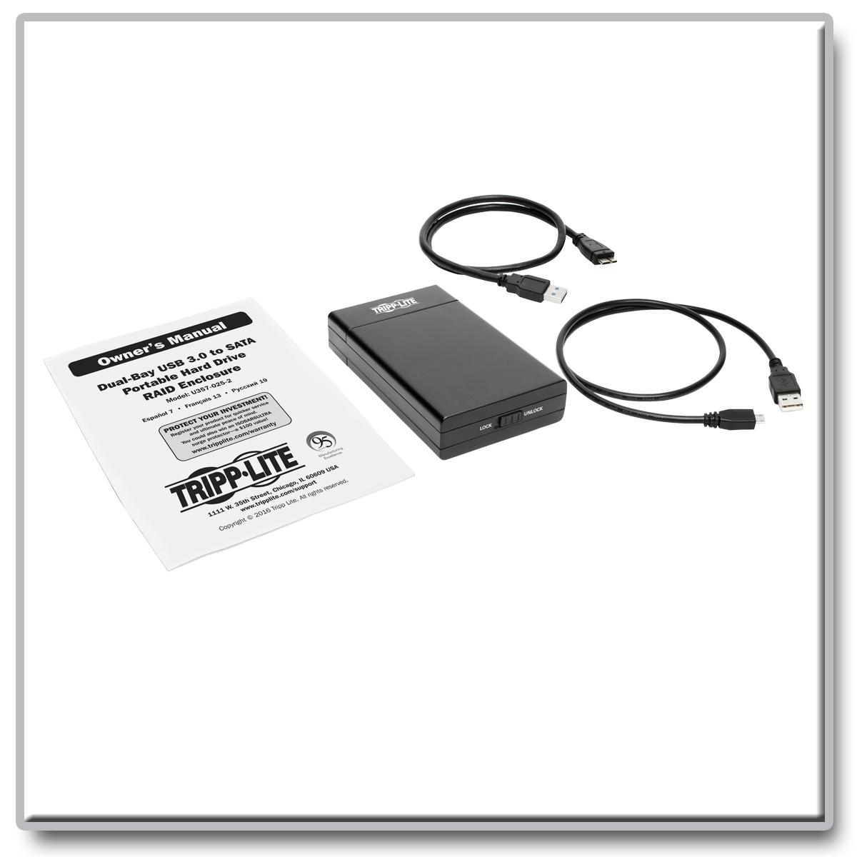 Tripp Lite Dual Bay Usb 30 Superspeed To 25 Sata 6gb S U357 025 2 Seagate Backup Plus Desktop Hub 8tb Hdd External 35 Inch 3 Year Warranty New Original Product Image