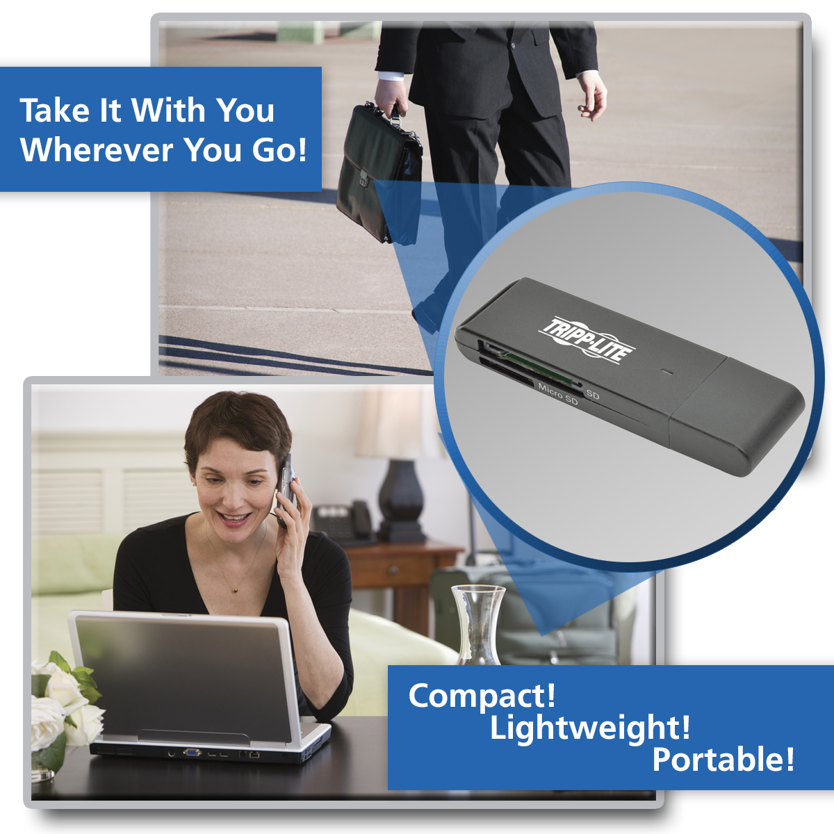 Tripp Lite Usb 30 Superspeed Sd Micro Adapter Memory Card Reader Votre 4 Slot Product Image