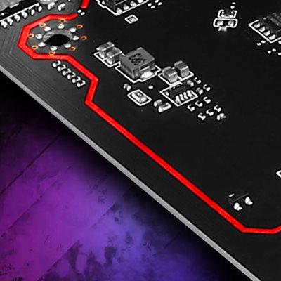 Isolierter Audio-Bereich mit LED-Linie
