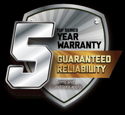 5 Jahre Garantie für eine gesicherte Zuverlässigkeit