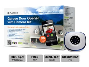 Asante Live Streaming Garage Door Opener with Camera Kit