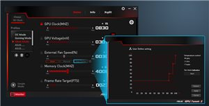 GPU Tweak II ermöglicht die einfache Einrichtung der folgenden ASUS FanConnect II Modi: