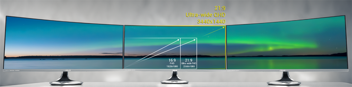 ASUS Designo Curve MX34VQ Ultra Wide Curved Monitor