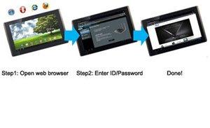 Einfache Einrichtung in drei Schritten über den Tablet-PC, das Smartphone oder den PC