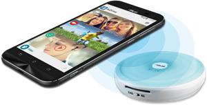 One-Touch NFC für eine einfache Verbindungsmöglichkeit