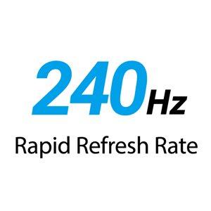 Unglaublich schnelle Bildwiederholungsrate von 240HZ