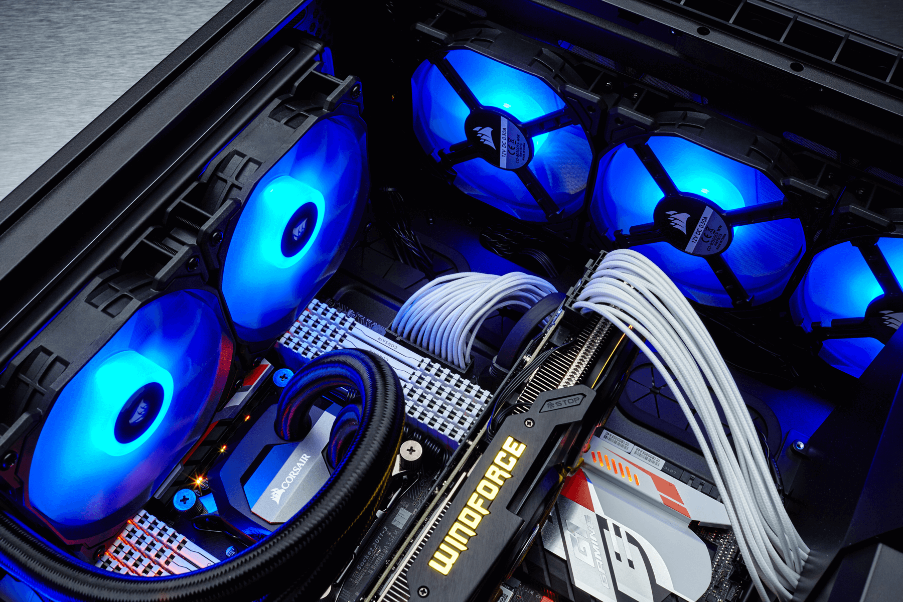 Corsair sp120 computer case ventilatore ventola nero bianco