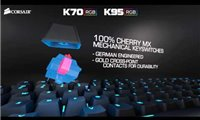 slide 1 of 9,zoom in, introducing the corsair k70 rgb and k95 rgb