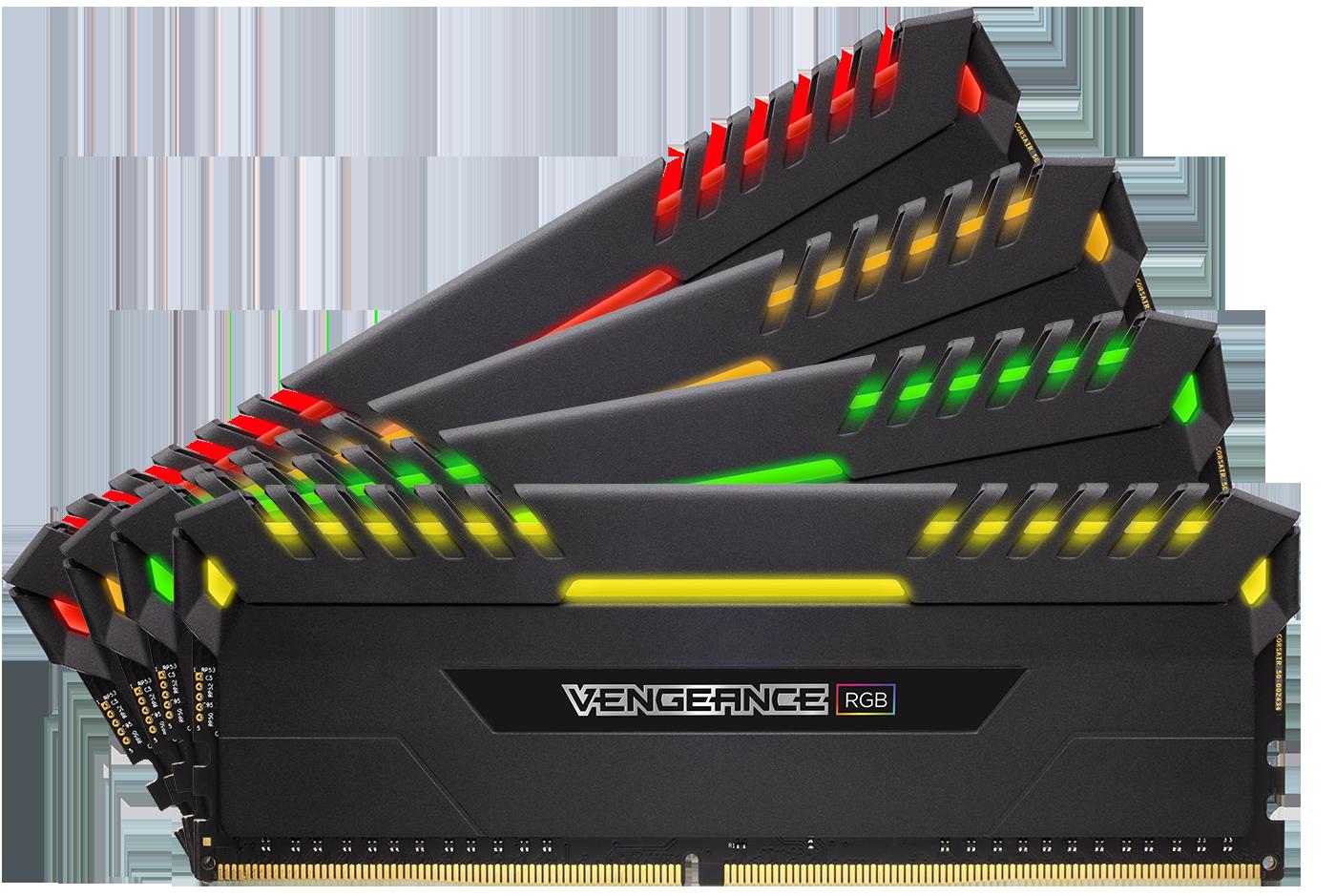 CORSAIR Vengeance RGB DRAM 16GB (2 x 8GB) DDR4 3000 (PC4-24000) C15 ...