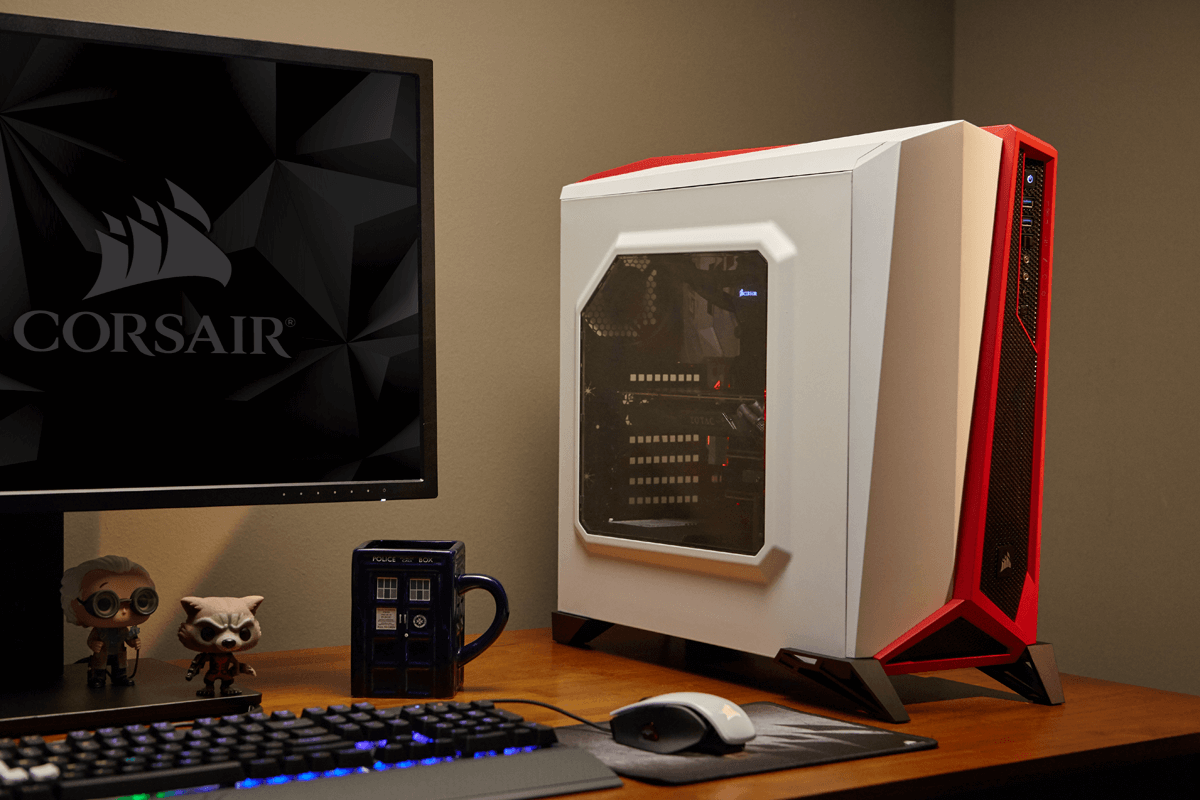 buy popular faad6 ef3c9 Corsair Carbide Series SPEC-ALPHA Mid-Tower Gaming Case - White/Red - Boom  I.T.