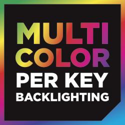 Mehrfarbige Hintergrundbeleuchtung der einzelnen Tasten für eine praktisch unbegrenzte Anpassung