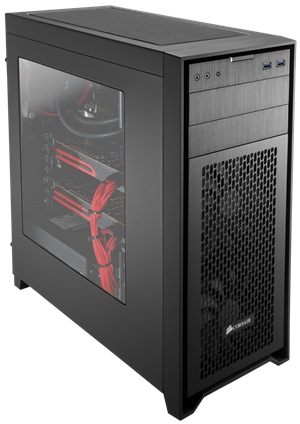 Mid-tower size, with a roomy interior that's optimized for airflow.