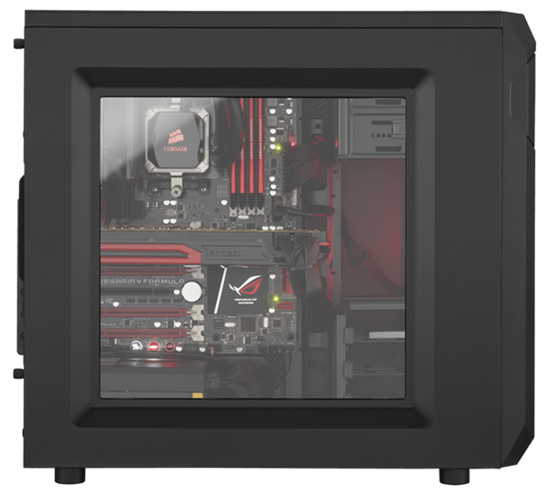 Carbide Series SPEC-01 Mid-Tower Gaming-Gehäuse mit roter LED