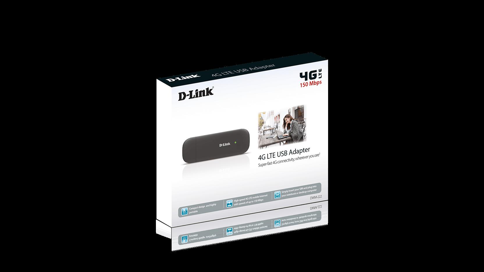 d link dwm 222 wireless cellular modem 4g lte usb 2 0 150 mbps dwm