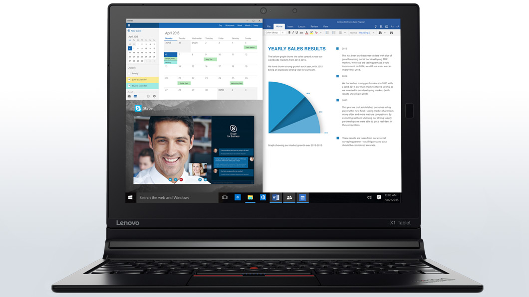 slide 1 of 8,show larger image, lenovo thinkpad x1 tablet