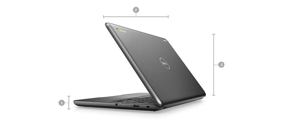Dell Chromebook 3380 Education: Made for active education.