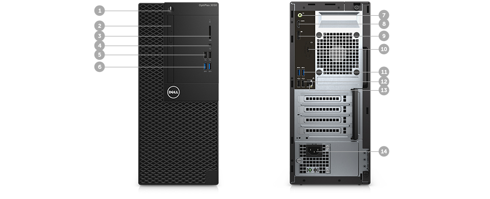 OptiPlex 3050 Mini Tower: Business critical performance, smaller design.