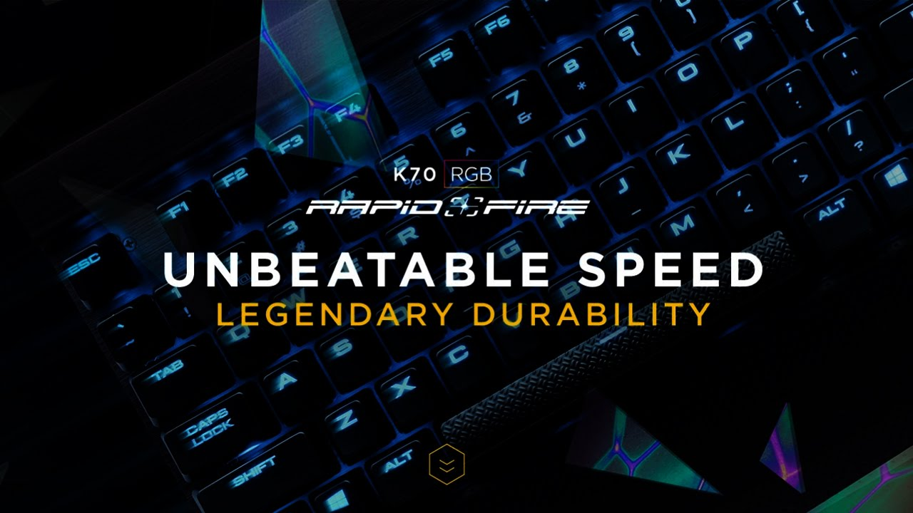 Corsair Gaming K70 Rgb Rapidfire Tastatur Schwarz Mx Speed Strafe Cherry Red Medien