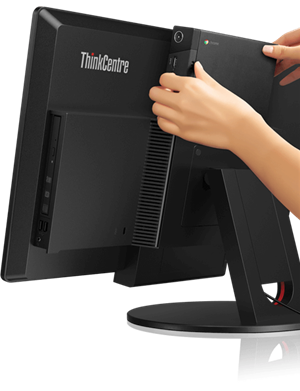 Lenovo ThinkCentre Chromebox Tiny Desktop: TRANSFORMABLE TINY DESKTOP.