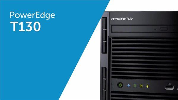 Dell PowerEdge T130 Mini-tower Server - 1 x Intel Xeon E3-1220 v6 Quad-core  (4 Core) 3 GHz - 8 GB Installed DDR4 SDRAM - 1 TB (1 x 1 TB) Serial