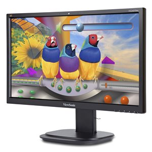 "ViewSonic VG2437Smc: 24"" (23.6"" viewable) Full HD Ergonomic LED Monitor with Integrated Webcam"
