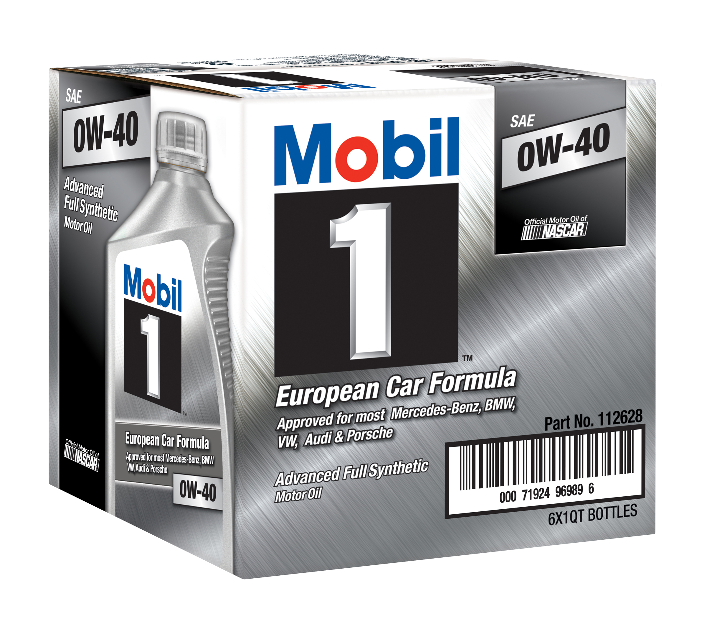 mobil 1 advanced full synthetic motor oil 0w 40 6 pack. Black Bedroom Furniture Sets. Home Design Ideas