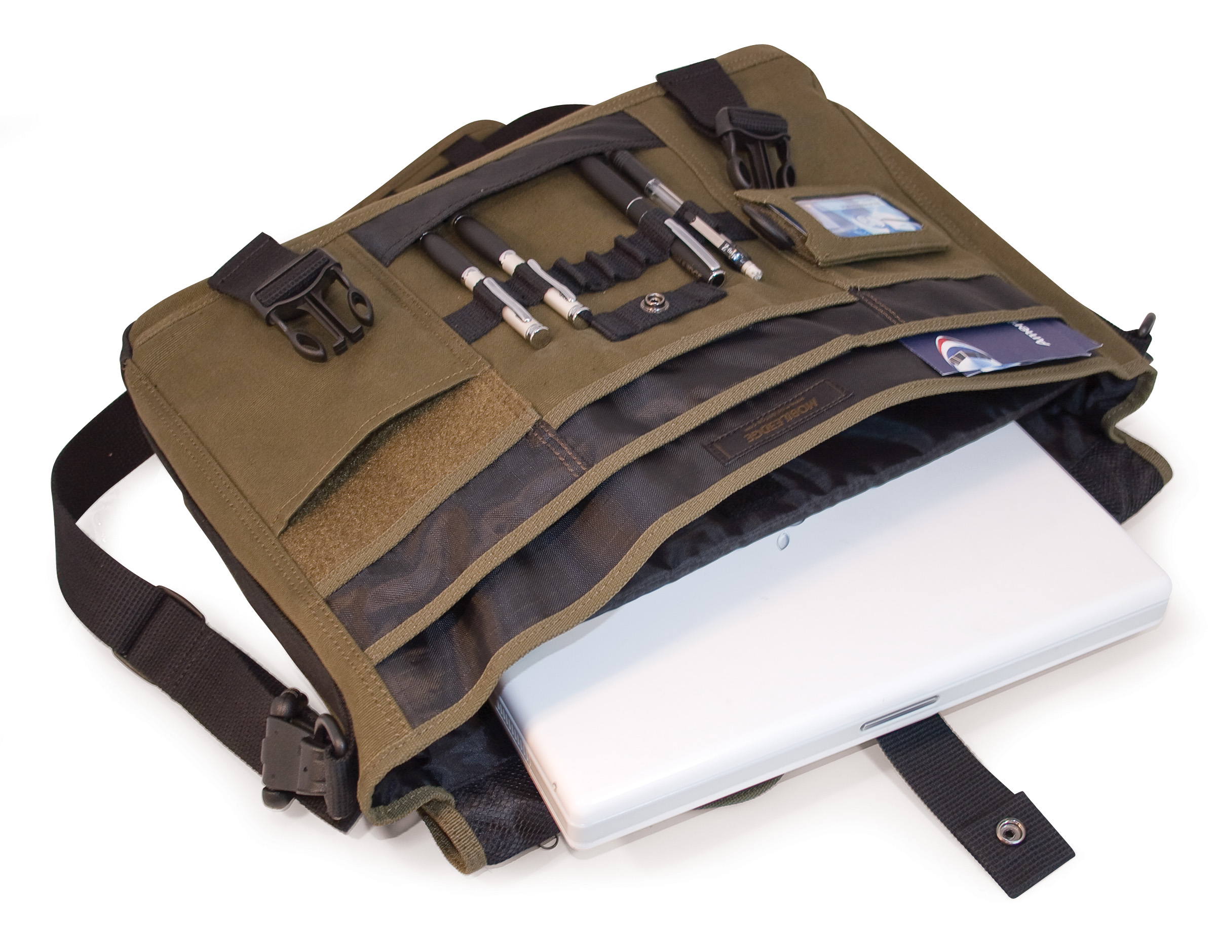Mobile Edge Eco Friendly Canvas Messenger Bag For 17.3 Laptops ...
