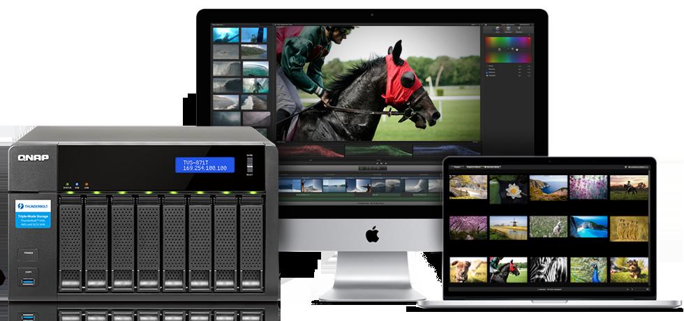 QNAP TVS-871T-i7-16G 8 Bay Desktop Enclosure (TVS-871T-I7-16G) | BT Shop