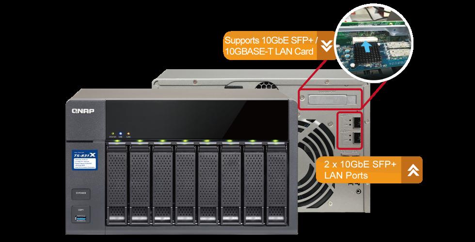 QNAP TS831X8G/ST3000VN007 - QNAP TS-831X NAS Tower Ethernet LAN Black