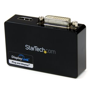 Connect an HDMI® and DVI-I-equipped display through a USB 3.0 port, for a 1080p HD external multi-monitor solution
