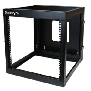 Wall-mount your server or networking equipment with a hinged rack design for easy access and maintenance