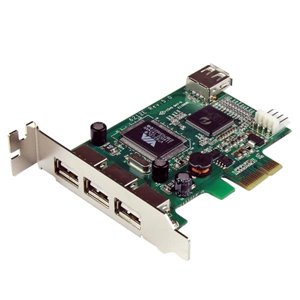 Add 4 USB 2.0 ports to your low profile/small form factor computer through a PCI Express expansion slot