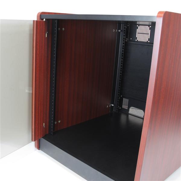 StarTech.com 12U Rack Enclosure Server Cabinet 20.6 in. Deep Wood ...